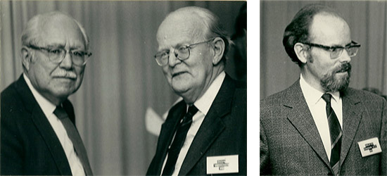 Fig. 2-3. Fred Sparrow (left) at the Bremerhaven meeting.    Jan Kohlmeyer