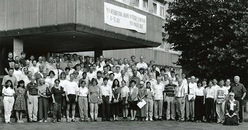 Group photograph outside the University of Portsmouth, Department of Biological Sciences building.